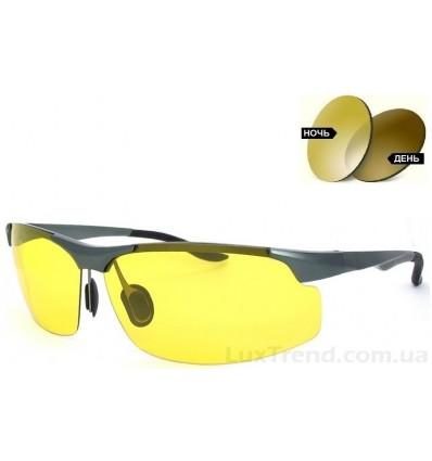 Солнцезащитные очки фотохромные 8003 Aluminium желтые